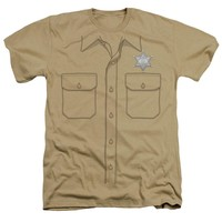 Andy Griffith Show Heather T-Shirt Sheriff Uniform Sand Tee