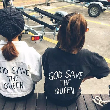 GOD SAVE THE QUEEN - DENIM JACKET