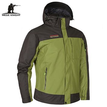 Autumn Winter Two-pcs Men's Windbreakers High Quality Male Jacket High Quality Anorak Warm Parka Windcheater