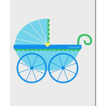 """Baby Boy Carriage Aluminum 8 x 12"""" Sign"""