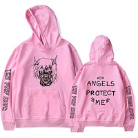 2018 New Lil Peep Hoodies Men Hooded Sweatshirts Men  Pink Spring Autumn Hip Hop Harajuku Loose 4XL Hoodie Sweatshirt Streetwear