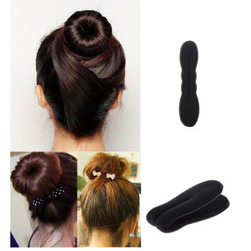 1 Set Women Lady Hot Sponge Clip Foam Donut Hair Styling Bun Curler Tool Maker Ring Twist Hair Band Accessories
