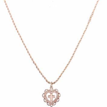 2018 Women's Exquisite Women's Necklace Openwork Love Cross Style Exquisite White Necklace F0508-1