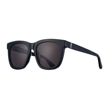 Saint Laurent SL M24K Oversize Square Acetate Sunglasses