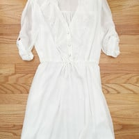 White Summer Ruffled Dress