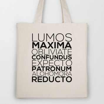 Harry Potter Spells Tote Bag by Hopealittle