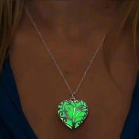 Glow In The Dark Silver Locket