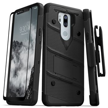 Zizo Bolt Case for LG G7 ThinQ - 12 ft. Military Grade Drop Tested + Tempered Glass Screen Protector