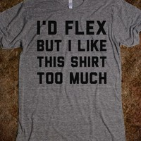 Not Gonna Flex-Unisex Athletic Grey T-Shirt