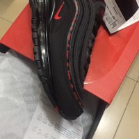 PEAP Nike Air Max 97 OG QS Black Red Sport Running Shoes