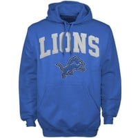 '47 Brand Detroit Lions Scrimmage Pullover Hoodie - Light Blue