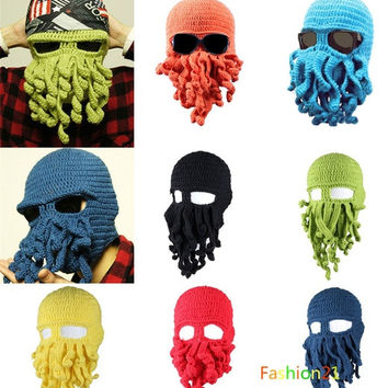 Tentacle Octopus Cthulhu Knit Beanie Hat Cap Wind Ski Mask = 1958036100