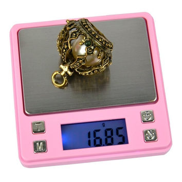 200g/0.01g Pink Balance Digital Pocket Scale Weight Jewelry Electronic scale SUB D_L = 1712876868