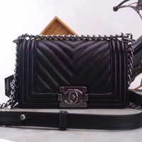 CHANEL WOMEN'S HOT STYLE LEATHER CHAIN SHOULDER BAG