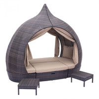 Outdoor Wicker Patio Pod Daybed