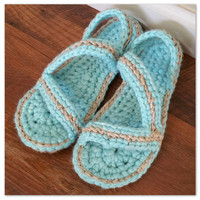 Crochet Sandals *Made To Order* Zinnia Sandals, teen, women, outdoor, water resistant soles, slippers, shoes, for her, hippie boho trendy