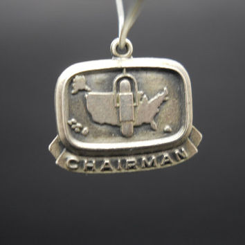 ABWA Chairman Charm Sterling Silver American Business Womens Association 925 Vintage