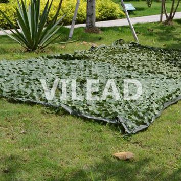 VILEAD 2M*8M Jungle Camo Netting Green Digital Camouflage Netting For Outdoor Sun Shelter Theme Party Decoration Balcony Tent