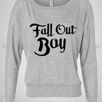Bull-shirt.com fall out boy #2 Off Shoulder Top Bull-shirt.com