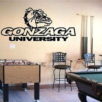 NCAA Gonzaga Bulldogs Logo Team Wall Art Sticker Decal  (S253)