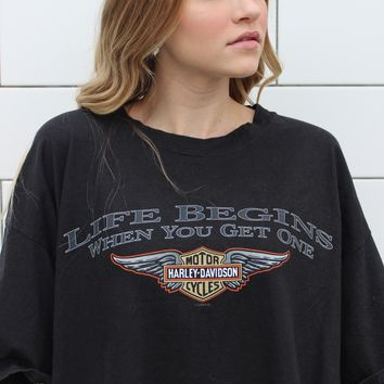 """""""Life Begins When You Get One"""" Vintage Tee"""