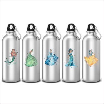 Disney Princess Inspired Sports Water Bottles Novelty Gifts