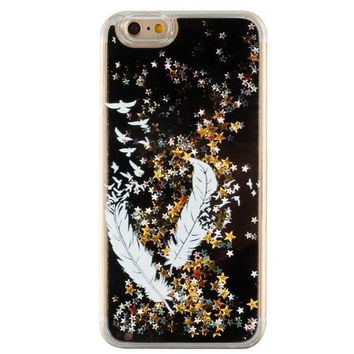 Cool Quicksand Twinkle Lace Feather Case Cover for iPhone 5s 5se 6 6s Plus Free Gift Box 47