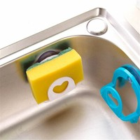 1pc Bathroom Shelf Towel Soap Dish Holder Kitchen Sink Dish Sponge Storage Holder Rack Robe Hooks Sucker With Hooks 4 Colors
