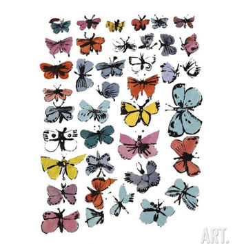 Butterflies, c.1955 Giclee Print by Andy Warhol at Art.com