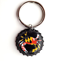 Custom Maryland Crab keychain