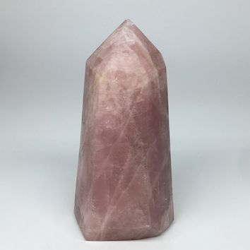 "2340g,8""x4""x3.6"" Natural Rose Quartz Tower Point Crystal @Madagascar,TP171"