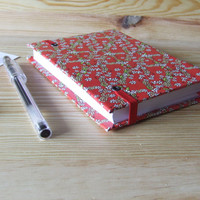 Floral Pattern - Small Weekly Planner 2015/2016 - Agenda A6 - Handmade Bookbinding Planner - School Small Planner - Back to School Agenda