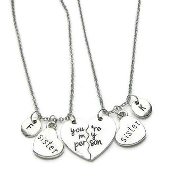 2  Sisters Necklaces, You're My Person Necklaces, Sisters Necklaces, You re My Person Sisters Necklaces, Necklaces For Sisters ,Personalized