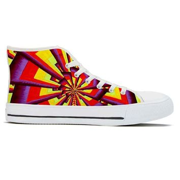 Fractal by Alex Aliume - High Top Canvas Shoes