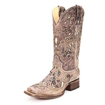 Corral Vintage Bone Inlay Cowgirl Boots from Head West Outfitters | Beso.com