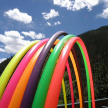 "38"" 96cm NEON Colored PolyPro Practice Hula Hoop - You pick the size and color!"