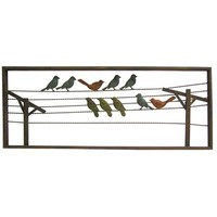 Multi Color Birds on Wire Metal Wall Decor | Shop Hobby Lobby
