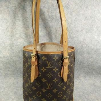 PEAPYD9 Authentic Louis Vuitton BUCKET PM Vintage in 1996 Handbag Shoulder Bag, no peeling and