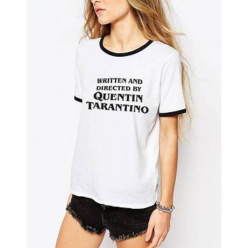 """Written And Directed By Quentin Tarantino"" Tee"