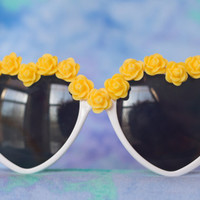 YELLOW SUBMARINE // embellished flower by TheMermicornsTrove