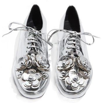 Jeffrey Campbell Novak Floral Brogue Shoes