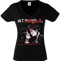 MY CHEMICAL ROMANCE BAND 3 Lady Black New T-shirt Rock T-shirt Rock Band Tee