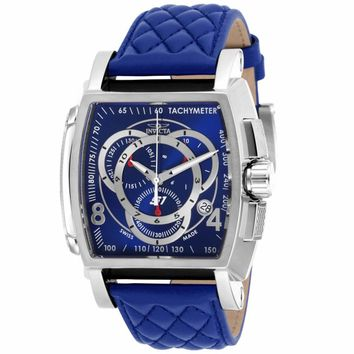Invicta 17007 Men's S1 Rally Swiss Blue Dial Chronograph Blue Leather Strap Watch