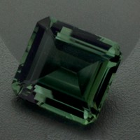 Green Amethyst: 28.74ct Square Emerald Shape Gemstone