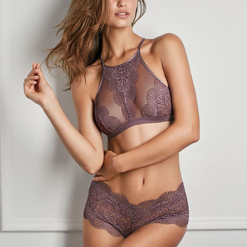 d80462e753 Crochet Lace High-neck Bralette - Body by Victoria - Victoria s Secret
