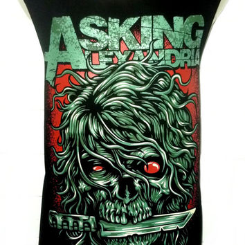 Asking Alexandria Skull Rock Band Music Metal T Shirt Tank Top Singlet Vest Sleevless One Size Fits All