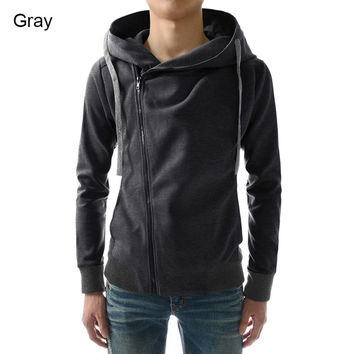 Shop Side Zip Hoodie on Wanelo