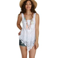 Sale- White Crochet Fever Top