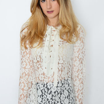 Endless Rose Whispers Lace Top