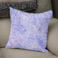 «Lavender and white swirls doodle», Numbered Edition Coussin by Savousepate - From 25€ - Curioos